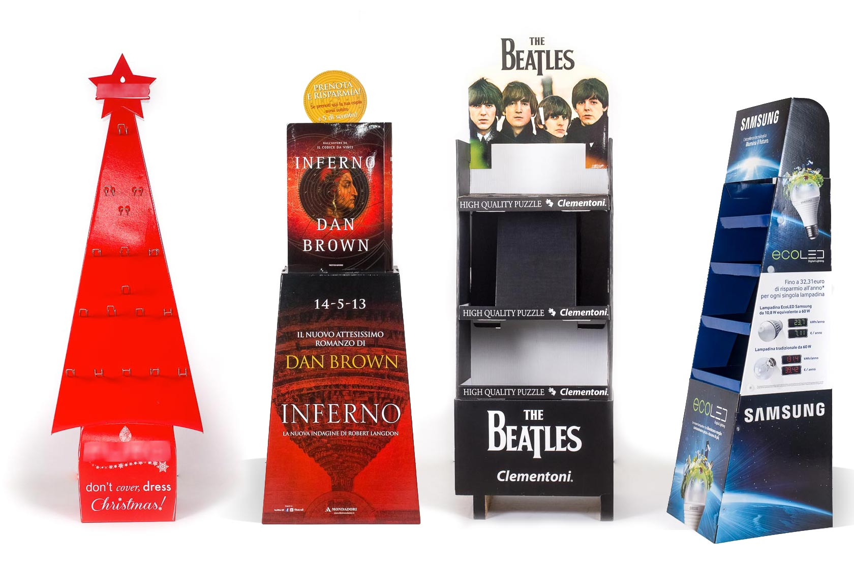 Free-standing display units